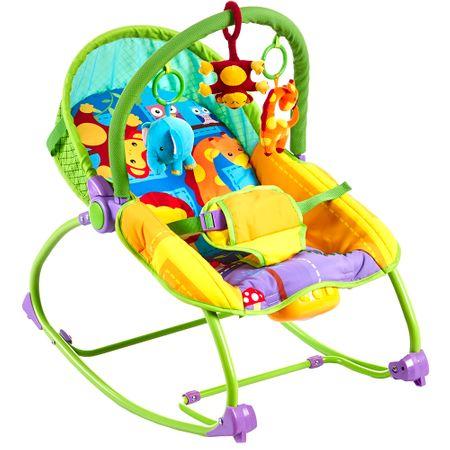 Бебешка люлка-шезлонг Wunderkid Jungle Animals