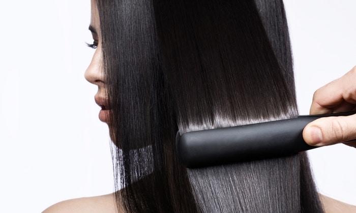 използване на преса за коса