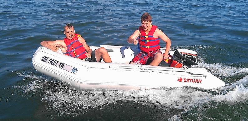 надуваема лодка за четири човека