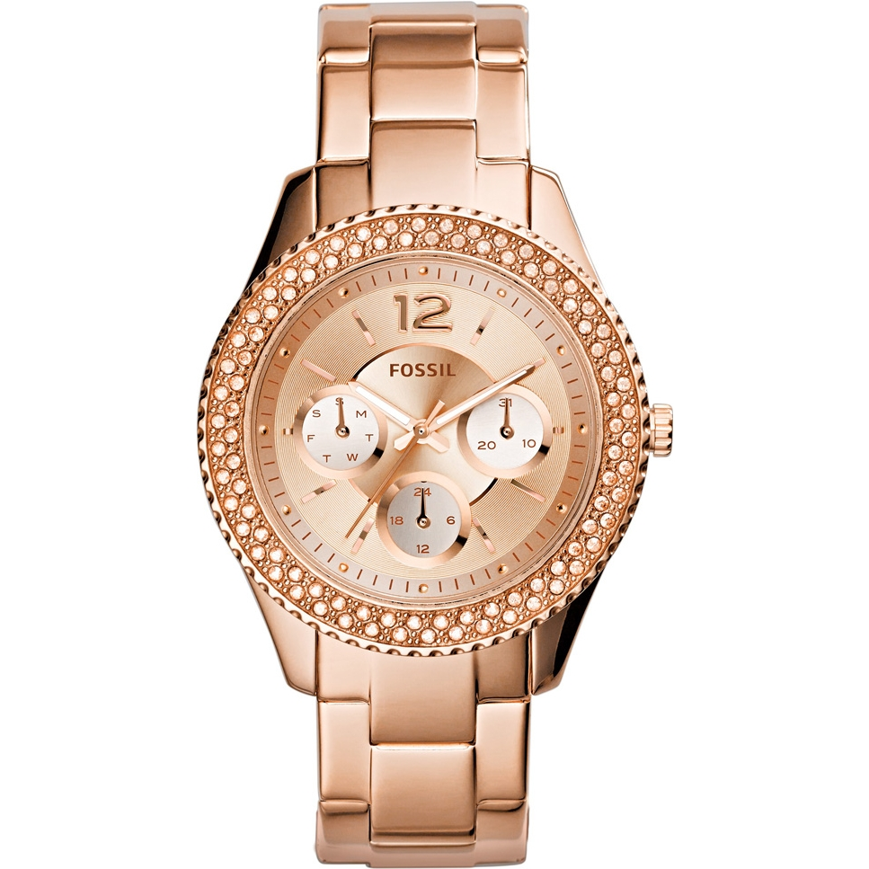 Дамски часовник Fossil Stella с кристали