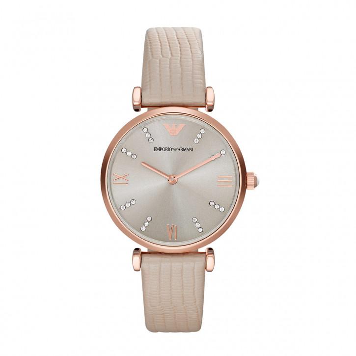 Emporio Armani дамски часовник с кожена каишка