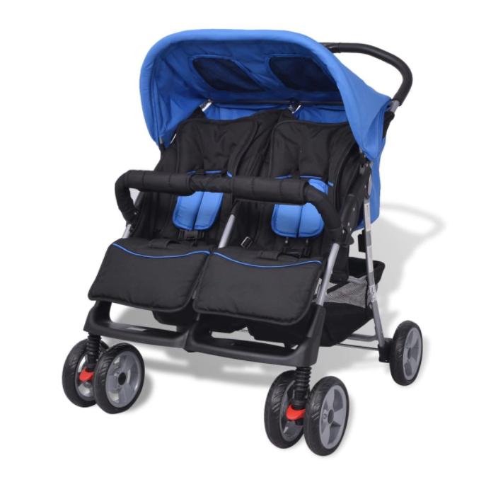 Бебешка количка за близнаци vidaXL