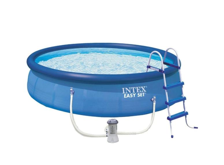 Надуваем басейн Intex Easy Set