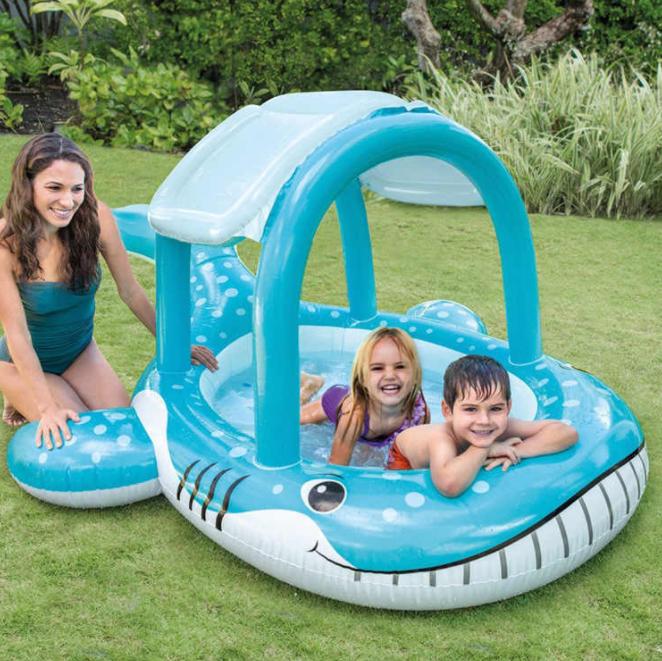Надуваем детски басейн модел 57125 син кит