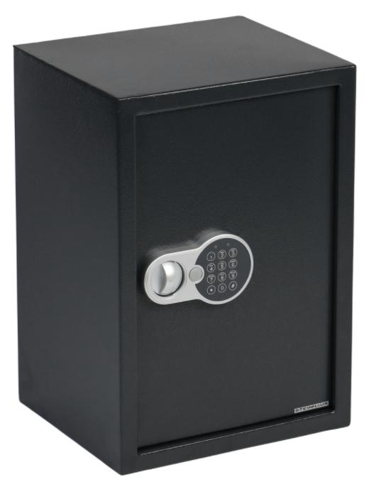 Стоманен сейф с електронно заключване и ключ Steinhaus